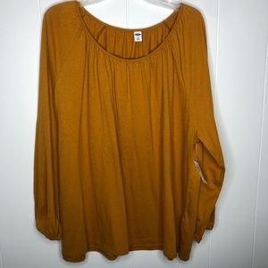 NWT Old Navy gold poet sleeve tunic top. Size XXL